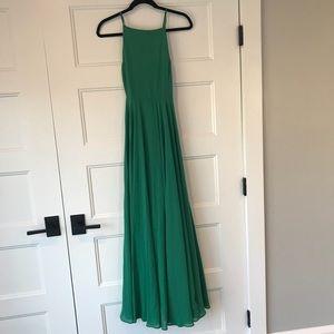 Green long dress